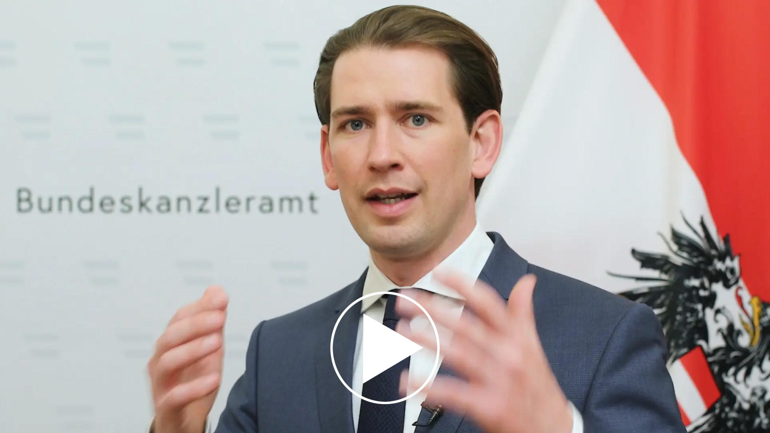 Begrüßung durch Bundeskanzler Sebastian Kurz
